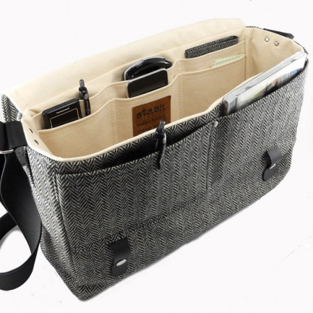 Well-known mousybabe | Brown Herringbone Wool Laptop Case XZ93